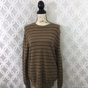 Express Factory Lambs Wool Striped Sweater
